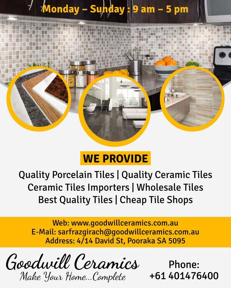 Good will ceramics pty ltd ceramic tiles importers pooraka in photos dailygadgetfo Choice Image
